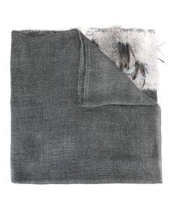 CUTULI CULT | Fur Panel Raw Edge Scarf Rabbit Fur/Viscose/Mohair/Feather