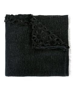 CUTULI CULT | Lasered Leather Scarf Leather/Viscose/Cashmere/Wool