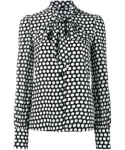 Saint Laurent | Polka Dot Pussybow Shirt 42 Silk