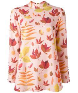 Arthur Arbesser | Leaf Print Blouse 42 Polyester/Spandex/Elastane