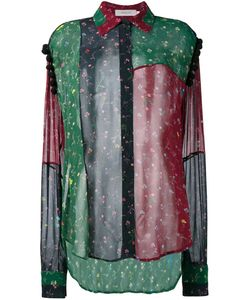 Preen By Thornton Bregazzi | Sheer Patchwork Shirt Xs