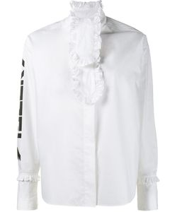 ASHLEY WILLIAMS | Ruffle Detail Shirt 10 Cotton