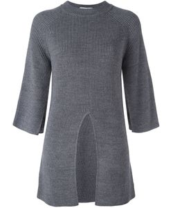 Federica Tosi | Front Slit Jumper Large Acrylic/Virgin Wool