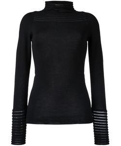 Wunderkind | Sheer Stripe Knitted Top Small Virgin Wool