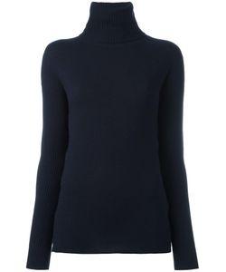 Michel Klein | Ribbed Turtleneck Sweater 38 Nylon/Viscose/Angora/Wool
