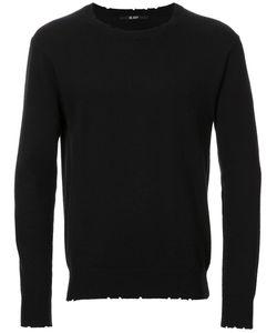 HL HEDDIE LOVU | Distressed Jumper Small Cotton/Nylon/Rayon/Wool
