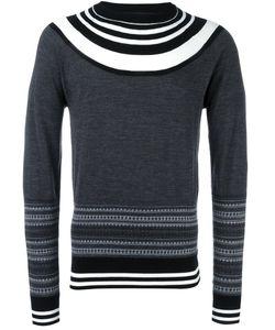Neil Barrett   Stripe Detail Jumper Large Wool