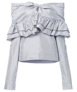 Isa Arfen | Domino Stripe Blouse 12 Silk/Cotton