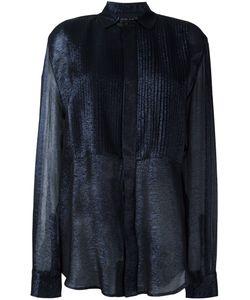 Michel Klein | Sheer Ribbed Shirt 38 Silk/Lurex