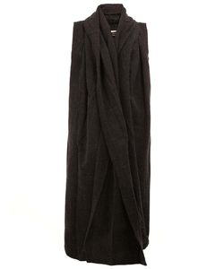 A NEW CROSS | Sleeveless Long Cardigan Large Cotton/Alpaca