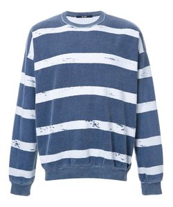 HL HEDDIE LOVU | Striped Sweatshirt Medium Cotton