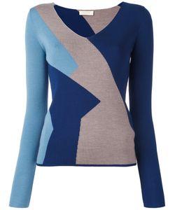Wunderkind | Colour Block Knitted Top Medium Virgin Wool