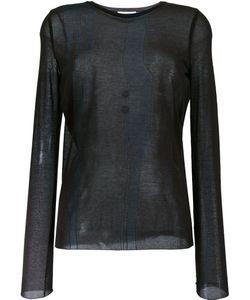 Nina Ricci | Sheer Longsleeved T-Shirt Medium Cotton/Polyamide