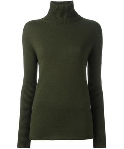 Michel Klein | Ribbed Turtleneck Sweater 36 Nylon/Viscose/Angora/Wool