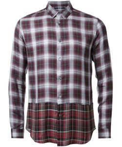 HL HEDDIE LOVU | Layered Checked Shirt Medium Lyocell/Rayon/Wool