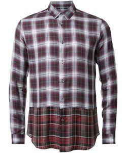 HL HEDDIE LOVU | Layered Checked Shirt Medium Lyocell/Rayon/Wool