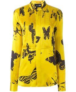 Michel Klein | Butterfly Print Shirt 36 Silk