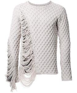 Maison Mihara Yasuhiro | Frayed Textured Knit Jumper 46
