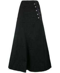 Ellery | A-Line Maxi Skirt 8 Silk/Cotton
