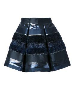 INGIE PARIS | Textured Stripe Pleated Skirt 42 Polyester