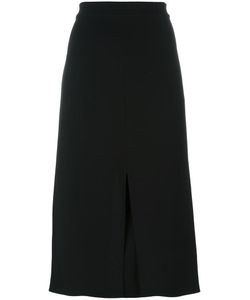 Tibi | Slit Detail Straight Skirt 4 Polyester/Triacetate
