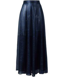Michel Klein | Sheer A-Line Skirt 38 Silk/Lurex