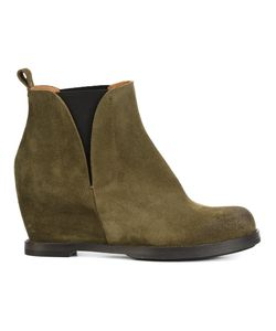 Buttero   Wedge Ankle Boots 37 Suede/Leather/Rubber