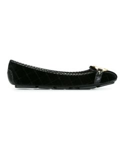 Michael Michael Kors | Logo Plaque Ballerinas 9.5 Leather/Velvet/Rubber