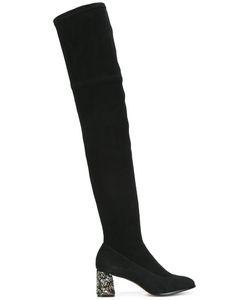 Sophia Webster   Embellished Heel Boots 36 Calf Suede/Leather/Nylon