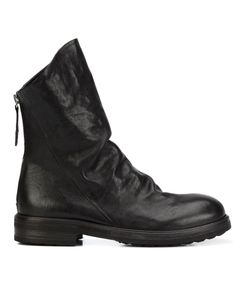 CHUCKIES NEW YORK | Ruched Ankle Boots 37 Leather/Rubber