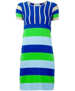 WALTER VAN BEIRENDONCK VINTAGE   Striped Knit Dress Small
