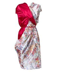 FERNANDA YAMAMOTO | Contrast Print Dress Polyester/Spandex/Elastane/Silk
