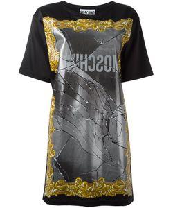 Moschino | Broken Mirror T-Shirt Dress 36 Rayon/Acetate/Other Fibers