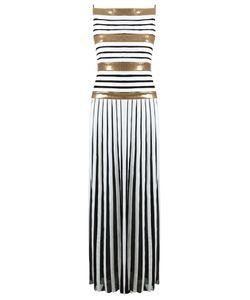 Reinaldo Lourenço | Silk Striped Gown 36 Silk