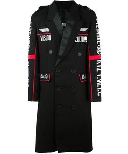 Ktz | Embroidered Double Breasted Coat Large Wool