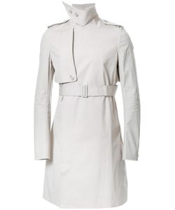 Rick Owens | Belted Trench Coat 50 Cotton/Polyurethane