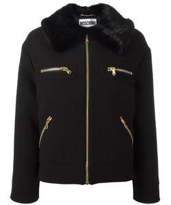Moschino | Faux Fur Collar Jacket 40 Virgin Wool/Modacrylic/Polyester/Rayon
