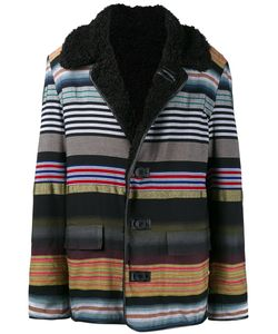 James Long   Striped Boxy Coat Medium Acrylic/Cotton/Viscose/Polyester