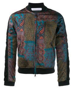 James Long   Paisley Print Bomber Jacket Small Cotton/Polyester