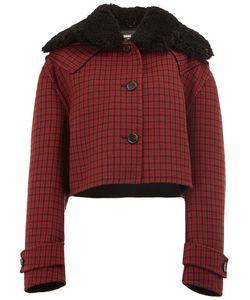 Yang Li | Cropped Plaid Jacket 38 Sheep Skin/Shearling/Viscose/Wool/Polyamide