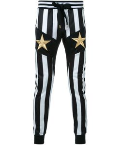 DRESS CAMP | Dresscamp Embroidered Star Striped Track Pants 44 Polyester