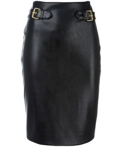 Moschino | Leather Look Pencil Skirt 42 Polyester/Polyurethane/Rayon