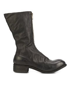 GUIDI | Stacked Heel Boots 43 Leather