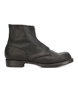 GUIDI | Zipped Military Boots 41 Leather