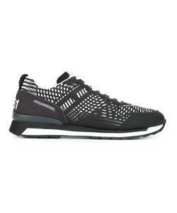 Hogan Rebel | Striped Sneakers 8.5 Calf Leather/Leather/Nylon/Rubber