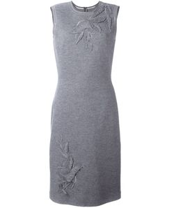 Ermanno Scervino | Patched Leaves Knit Dress 44 Silk/Cashmere/Wool/Polyester