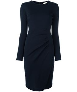 Michael Michael Kors | Ruched Jersey Dress Large Viscose/Wool