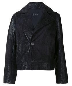 Judson Harmon | Cropped Moto Jacket Medium Lamb Skin/Aluminium