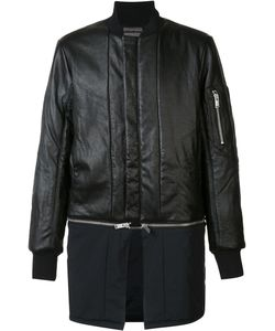 SIKI IM | Detachable Bomber Jacket Large Nylon/Leather