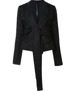 Barbara I Gongini | Front Tie Blazer 36 Linen/Flax